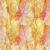 seamless pattern openwork leaves