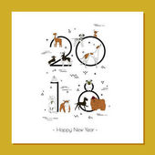Banner in breeds of dogs - symbol 2018 Happy New Year Memphis style Isolated on white background Eastern calendar Banner can be used for advertising greetings sale Vector