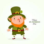 StPatrick 's Day Leprechaun  Traditional national character of Irish folklore Festive collection Isolated on white background