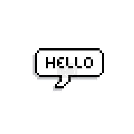 Pixel text bubble. Speech bubble icon. Vector illustration