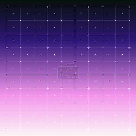 Illustration pour Interface HUD avec Grid. Gradient de fond flou. Contexte abstrait. Illustration vectorielle de fond abstrait de couleur douce - image libre de droit