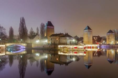 Strasbourg. Quay in the quarter Petite France.