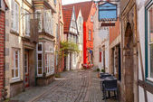 Bremen. Old picturesque streets.