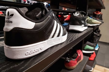 Adidas sports shoes in closeup