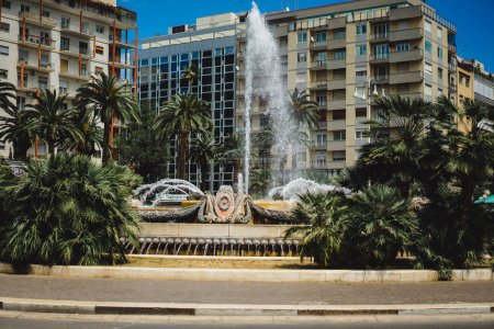 View of fountain at central square