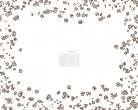 Christmas gold sequin styled mock-up desktop image with a white background
