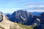 Panorama with mountain Haunold in Sexten Dolomites, South Tyrol, Italy