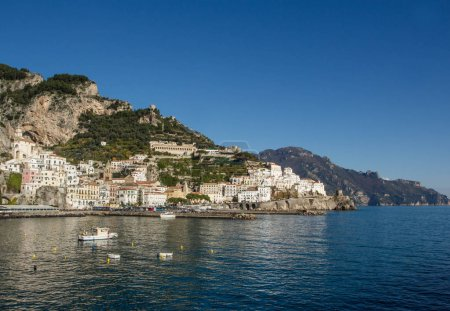Amalfi beautiful coast view in south Italy