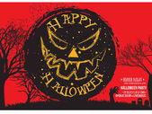 halloween night party invitation