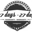27 days warranty icon vintage rubber stamp guarant...
