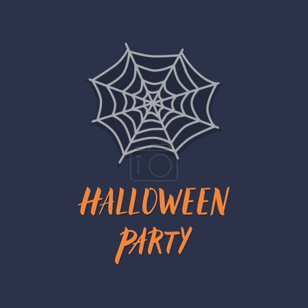 Halloween party spider web icon.