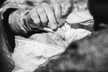 Christening ceremony of little baby