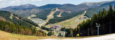 Panoramic shot of mountain landscape