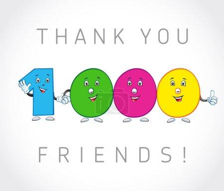 Thank you 2000 followers card.