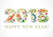 2018 Happy New Year folk card