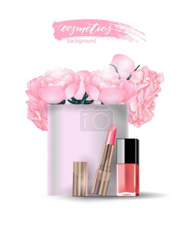 Beauty and cosmetics background. Beauty Concept. U...