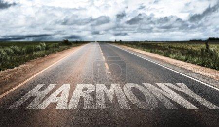 Harmony sign on road