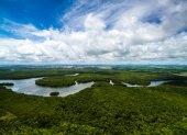 Letecký záběr Amazonský prales