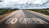 Jdi zelená značka na silnici
