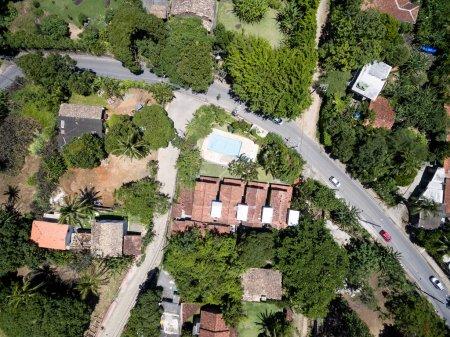 Photo pour Vue de dessus sur les rues de la ville brésilienne - image libre de droit