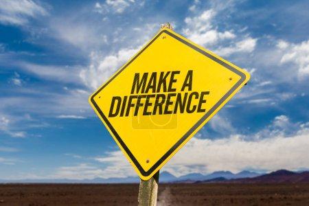 Photo pour Faire une différence sur une image conceptuelle - image libre de droit