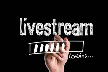 Photo pour Livestream de chargement sur une image de concept - image libre de droit