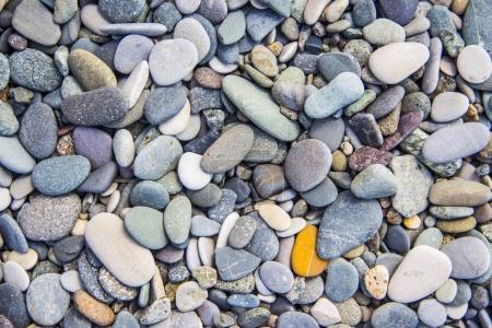 Photo pour Fond avec pierres rondes sèches de galets - image libre de droit