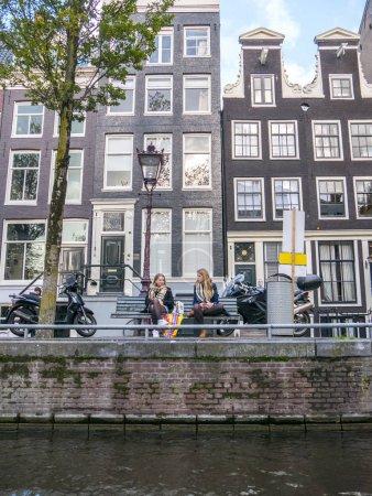 People walking on Amsterdam streets