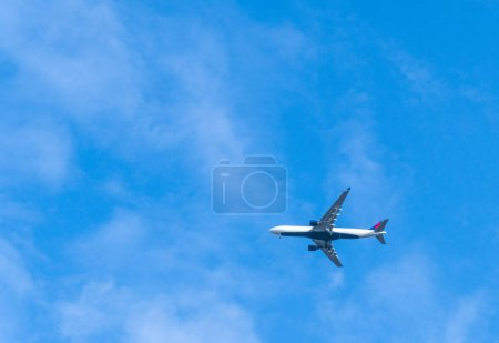 Flying plane in  sky