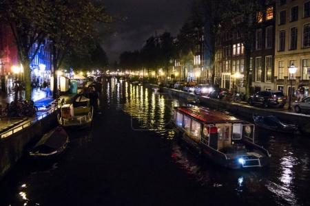 Amsterdam chanel at night