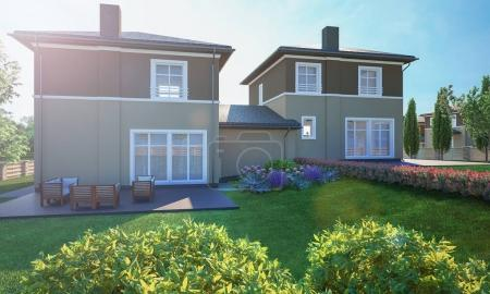 Photo for House cottage with yard - Royalty Free Image
