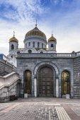 Vstup do katedrály sálový kostel největší katedrála Ruská pravoslavná církev