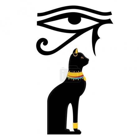 Horus eye and Egypt cat