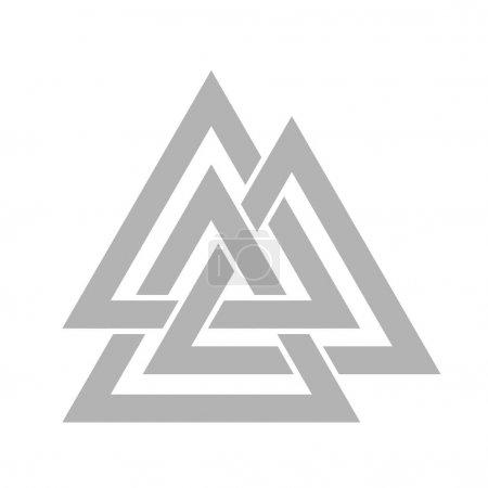 Valknut symbol of the world end of the tree Yggdra...