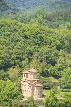 Beautiful view of the ancient fortress Tsarevets in the mountains, in Veliko Tirnovo, Bulgaria