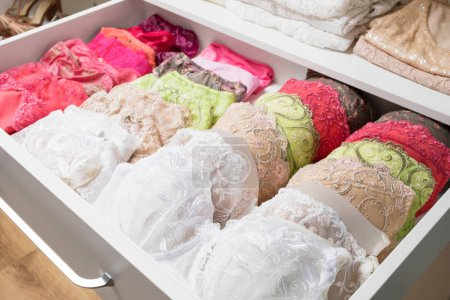 Photo for Woman's bras in drawer - Royalty Free Image