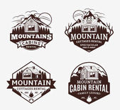 Mountain recreation and cabin rentals logo