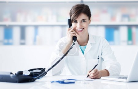 Doctor on the phone