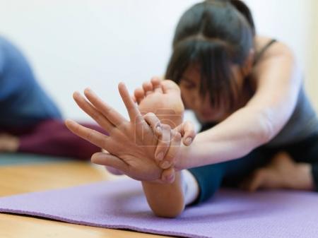 Yoga training and stretching