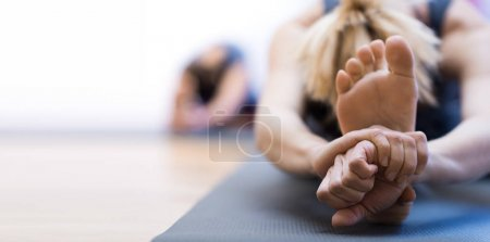 Yoga training and stretching
