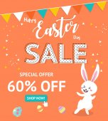 Easter sale banner background template