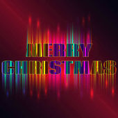 New Year 2017 celebration background Merry Christmas sign on a dark background and colorful splashes of color light Greeting card template Vector illustration