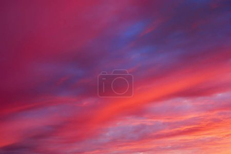 Colorful red sky sunset, nature background...