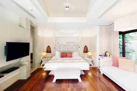 Luxury bedroom hotel interior