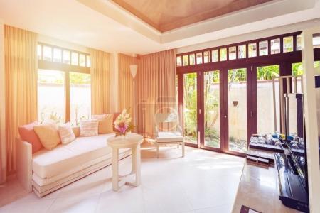 Living room in tropical Villa Hotel
