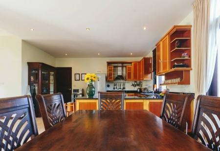Wooden kitchen interior