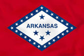 Arkansas waving flag Arkansas state flag background texture