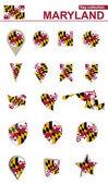 Maryland Flag Collection Big set for design