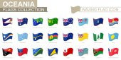 Waving flag icon, flags of Oceania countries sorted alphabetically