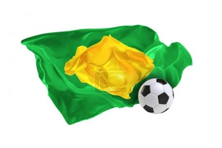 The national flag of Brasil. FIFA World Cup. Russia 2018